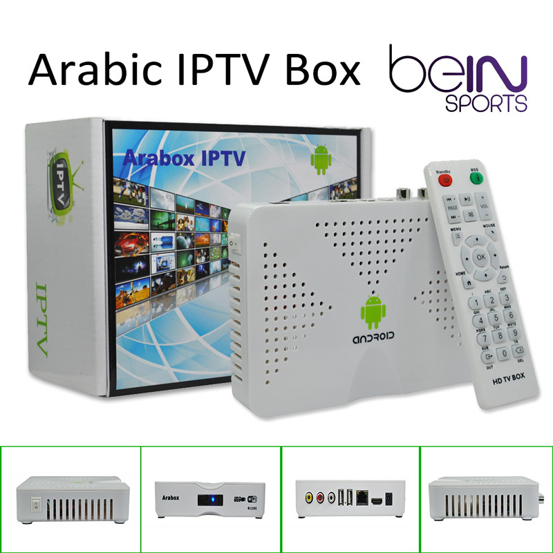 Best Arabic IPTV Box, Arabox 600 ,Free HD Arabic Channels BeIN Sports MBC OSN African Somali French Android 4.4 TV Box(China (Mainland))