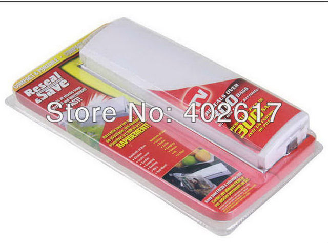 wholesale Plastic Bag Reseal Save Fresh Food Heat Sealer Reseal Save Portable Vacuum Sealer no include Betteries Free Shipping