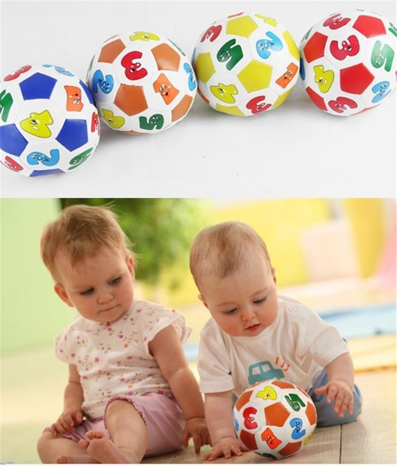 Children Kids Educational Toy Baby Learning Colors Number Rubber Ball Plaything Free Shipping(China (Mainland))