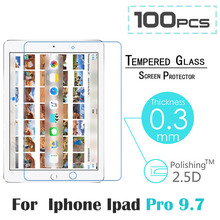 100pcs/lot 2016 Screen Protector for iPad Pro 9.7 inch 9H High Definition HD Tempered Glass Screen Protector for iPad Pro 9.7″