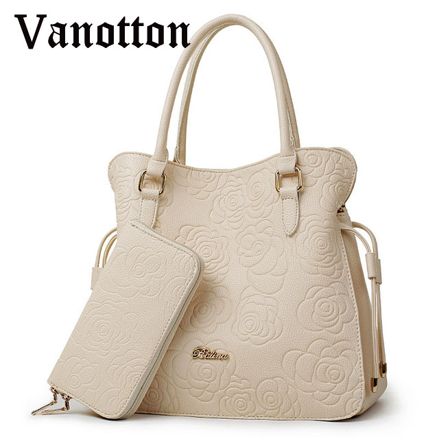 2016 famous brand women handbag bag Fashion pu leather Romantic Rose pattern bucket picture package woman shoulder bag(China (Mainland))