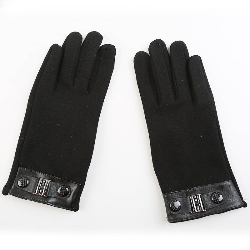 Fashion 2016 Leather gloves men Touch Screen Gloves Mittens for males Outdoor Wrist Heated solid Winter Gloves in men's gloves(China (Mainland))