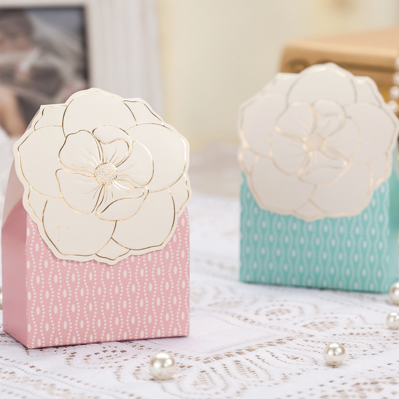 Wedding Favor Bags Boxes : : 32258425099 50X Flower Pattern Wedding favors Candy boxes Gift Bags ...