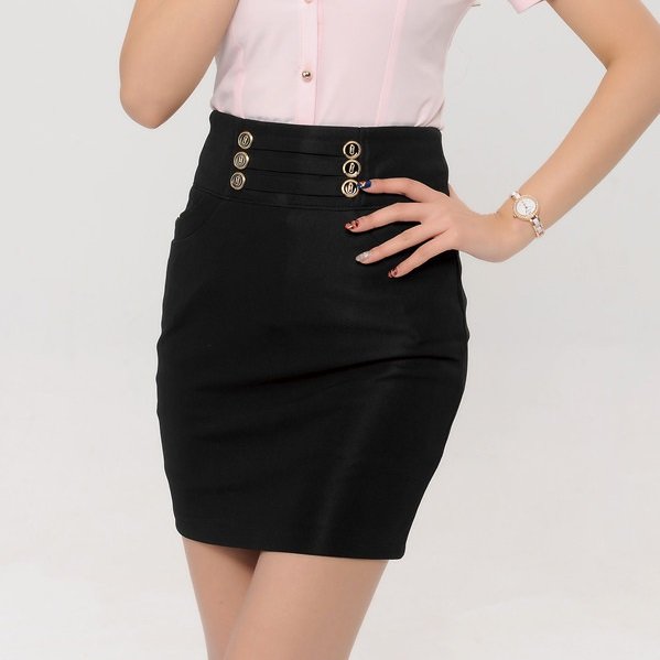 Black Pencil Skirt Mini - Dress Ala