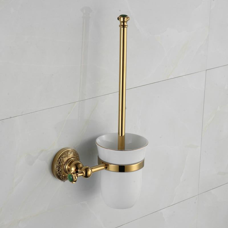 Luxury Crystal Rose Gold Toilet Brush Holder