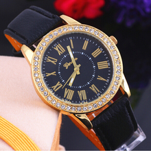 2015 Geneva watch exclusive new authentic gold diamond belt Roman literally women dress big love