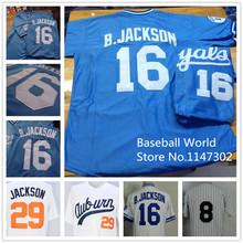 Bo Jackson Jersey Vintage Blue White Stitched Auburn 29(China (Mainland))