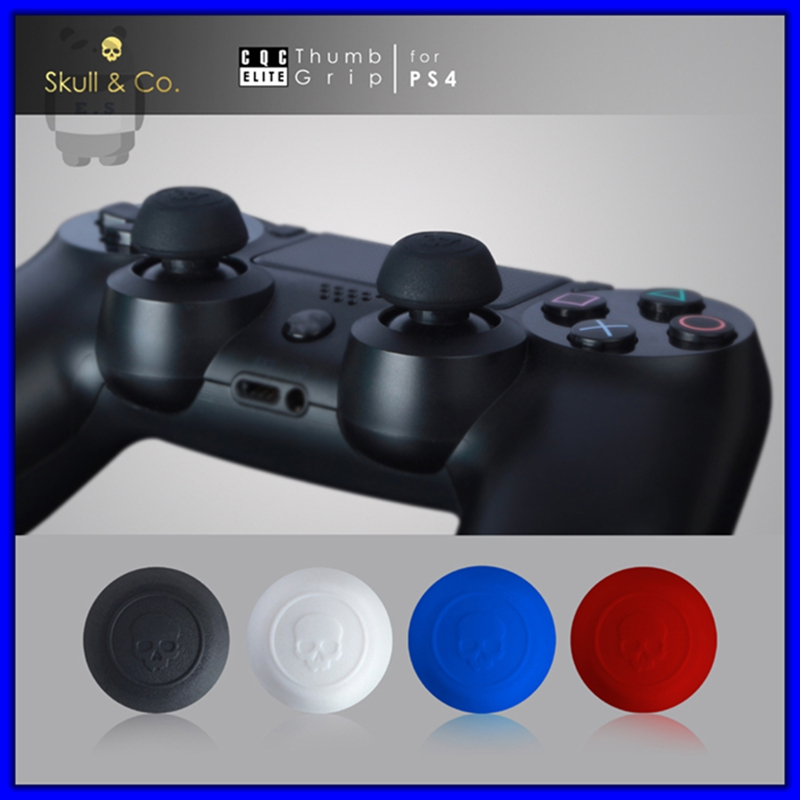 2PCS=1Pair Quality Skull Head Jelly ProCaps for Sony PS4 Controller for Dualshock4 Joystick Caps Video Game Accessory(China (Mainland))