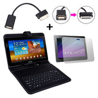Free Shipping 3in1 Keyboard Case Stand for Samsung Galaxy Tab 2 10.1 +30 PIN USB+Screen Gaurd