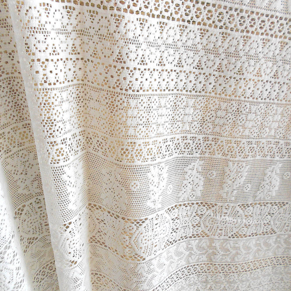 Off white cotton embroidery lace fabric fashion french for White lace fabric for wedding dresses