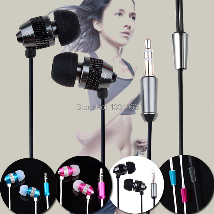 High Quality 3.5mm In Ear Earphone Metal Noise Isolating Stereo Headphone For iPod iPhone 3 4 5 MP3 10(China (Mainland))
