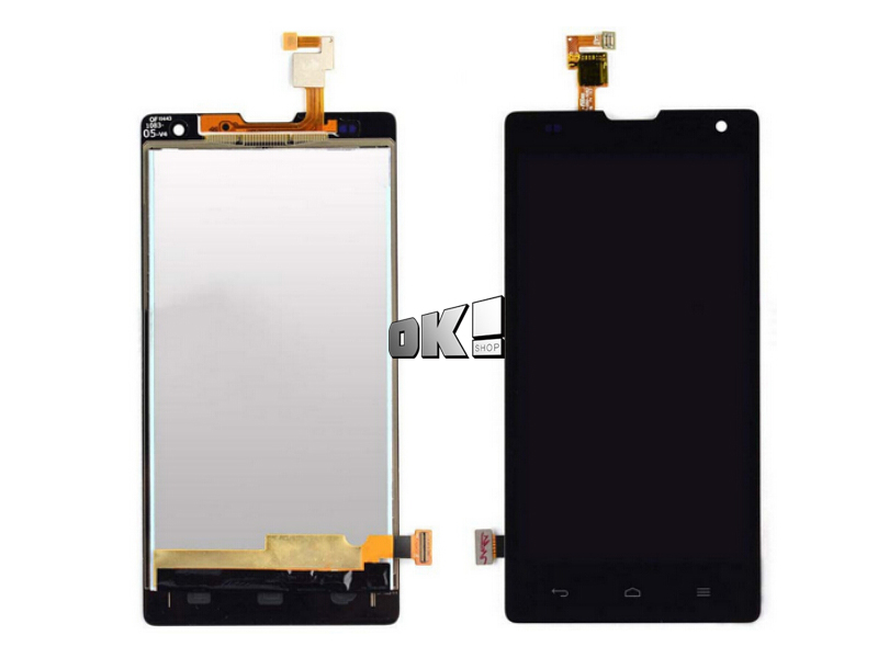 Black For Huawei Honor 3C G740 LCD Display + Touch Screen with Digitizer Full Assembly 100% new Free shipping