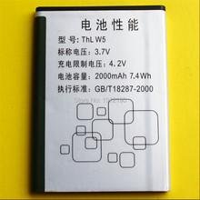 Free shipping THL W5 Original mobile phone battery Battery capacity 2000mAh New all original battery