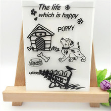 Happy Dog House Transparent Clear Stamp DIY Silicone Seals Scrapbooking/Card Making/Photo Album Decoration Supplies(China (Mainland))