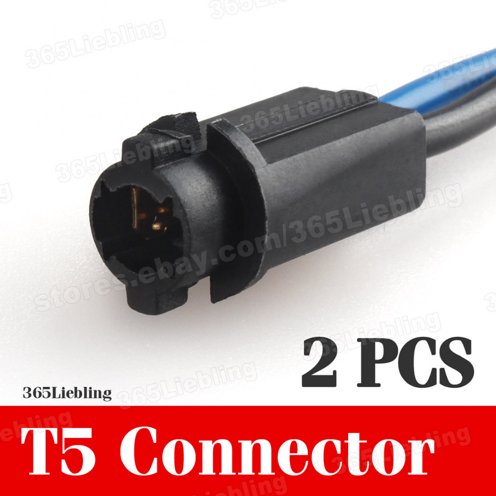 2pc t5 extension connector socket led auto truck harness light plugs wiring hot in cables. Black Bedroom Furniture Sets. Home Design Ideas