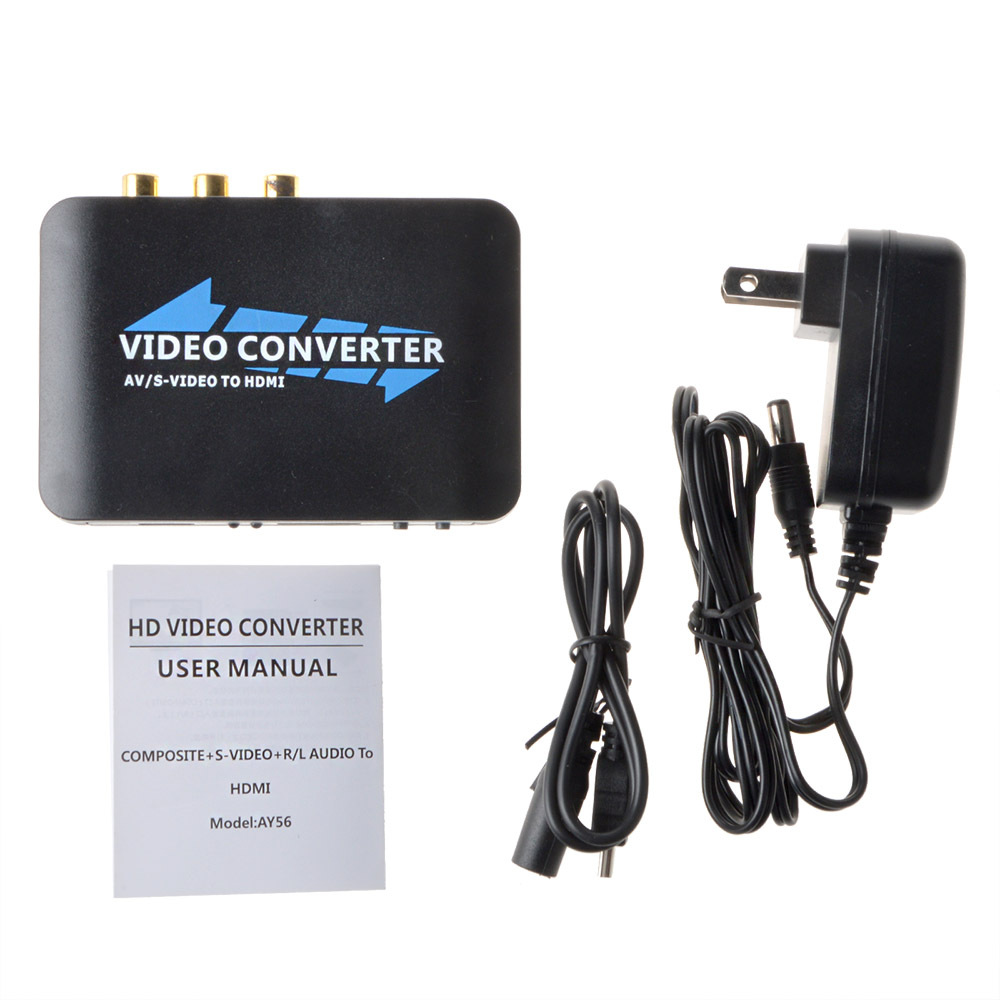 S-Video & Composite RCA to HDMI Converter AV Adapter - R/L Audio - 1080P(China (Mainland))