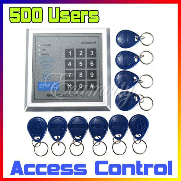 Security RFID Proximity Entry Door Lock Access Control System 500 User +10 Keys(China (Mainland))