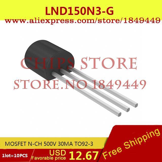 Бесплатная Доставка Diy Электронные LND150N3-G MOSFET N-CH 500 В 30MA TO92-3 150 LND150 10 ШТ.  free shipping 10pcs irfp4668pbf irfp4668 mosfet n ch 200v 130a 520w to 247ac