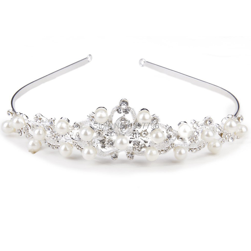 Bridal Tiara Crown Headband Rhinestone Faux Pearl Hair Jewellery Wedding accessories Tiaras(China (Mainland))