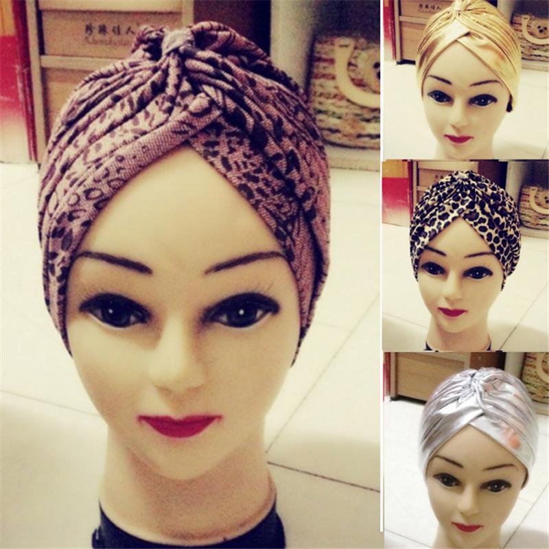 Free Shipping Hair Head Wrap Yoga Bath Cap Fashion Indian Style Leopard /Gold Turban Chemo(China (Mainland))