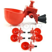 Free Shipping 5Pcs Automatic Bird Coop Feed Poultry Chicken Fowl Drinker Water Drinking Cups For Beauty Tool(China (Mainland))