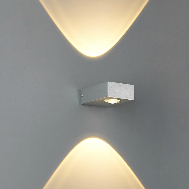 Contemporary Outside Wall Lamps : CLESSIDRA Modern Up-Down Contemporary Wall Spot Light for Indoor or Outdoor? Lighting ...