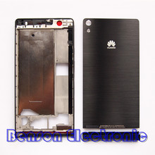 Original Housing Case For Huawei Ascend P6 LCD Front Frame Battery Back Cover Bottom Cover With Power Volune Buttons+3M Adhesive(China (Mainland))