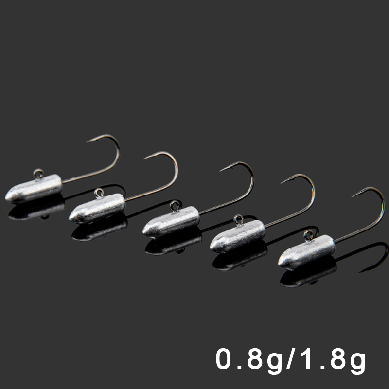 2bags/Lot 0.8g / 1.8g Bullet Lead Head Hook Root fishing Fishhooks Soft Bait Lure Clasps Micro lead Fishing Hook(China (Mainland))