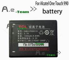Alcatel One Touch 990 Battery 100 New High Quality 1300mAh Li ion backup Battery for Alcatel