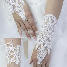 2015 Free Shipping New Design Lace Wedding Gloves For Wedding Dresses Bridal Gloves With Sequins(China (Mainland))