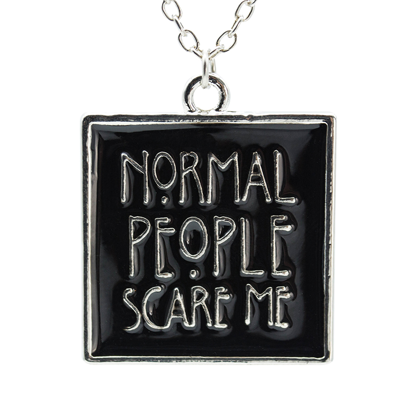 Гаджет  2015 NEW Arrival American Horror Historia Tate gente normal me asusta collar necklace movie jewelry None Ювелирные изделия и часы