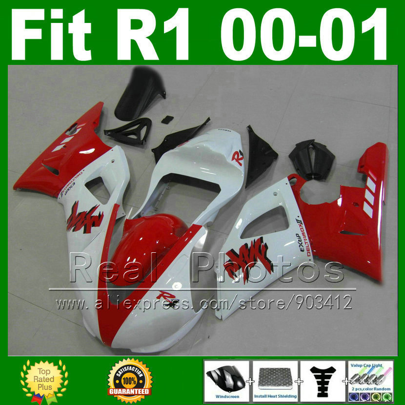 Racing motorcycle Fairings fit for YAMAHA YZF R1 2000 2001 kits holes closed YZFR1 00 01 bodywork fairing kit parts Y2U6(China (Mainland))