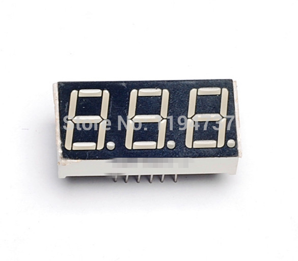 50PCS Common Anode 0.56 inch 3 Bit Digital Tube Red LED Display Series Voltage Panel(China (Mainland))