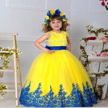 2016 new cute flower girl dress First communion Dresses for girls(China (Mainland))