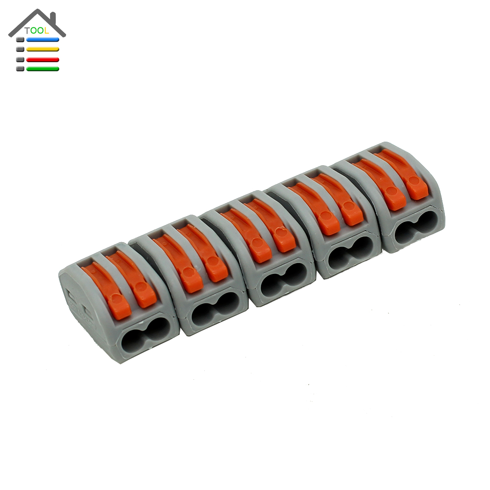 5pcs Terminals Block Splice Compact Plug Socket Wire Wiring Connector Terminal for Electric 2 Hole Pin Universal Crimp(China (Mainland))