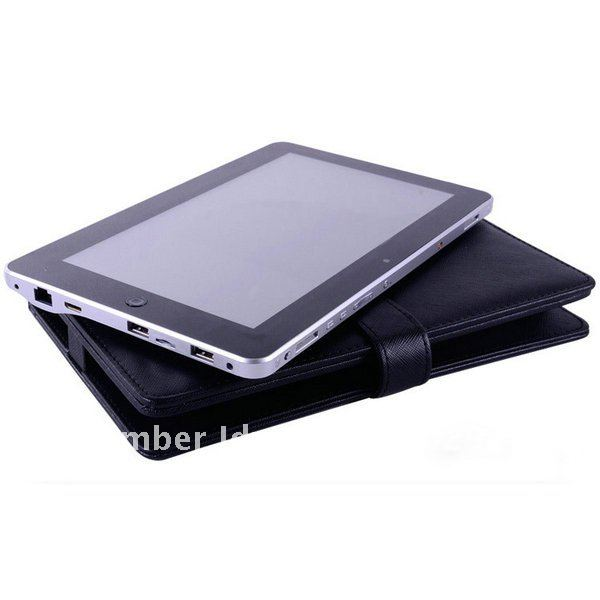 Black USB Keyboard Leather Case for 10 1 Ampe A10 Deluxe Window N101 DualCore Tablet Free