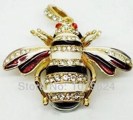 Memory  usb flash drives Usb  4gb 8gb 16gb 32GB Usb Pen drive gift  bee jewelry diamond  necklace<br><br>Aliexpress