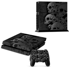 ps4 skin Skull new Style Skin Sticker For play station 4 For Playstation 4 PS4 Console and Cover Decals Of 2 Controller(China (Mainland))