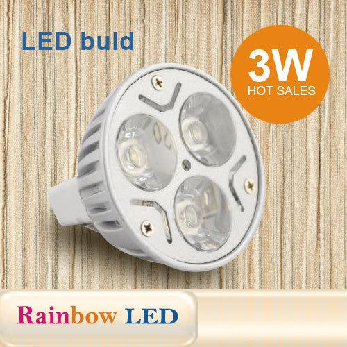 MR16 Warm White 3 LED Spot Bulb Light Lamp 3W Free Shipping
