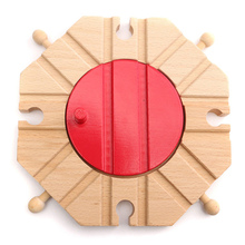 1PCS Miniature Wooden train Switch Track set Circular Turntable Educational Toys Boy/Kids Toy fit Thomas and Brio(China (Mainland))