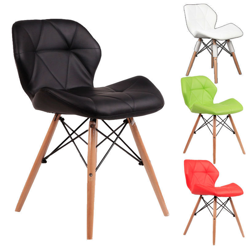 Eames soft pu leather chair dining chair 2pcspack kopen for Leather eames dining chair