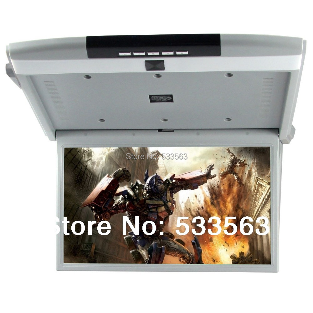 "Vroom 17.3"" TFT LCD over head celling Screen,Roofmount Monitor ,flip down monitor flip down DVD player 1980*1020 with HDMI(China (Mainland))"