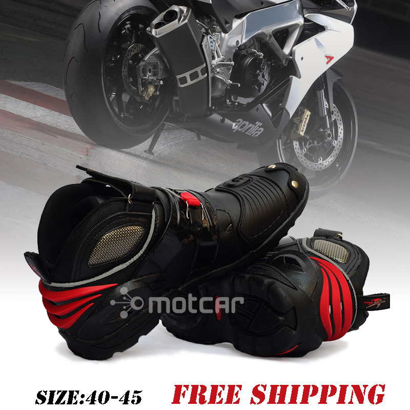 Motorcycle Boots Moto Racing Motocross Motorbike Shoes Protective Gear Motorcycle Boots Out Doorsport Shoes Size Eur 40-45 A9002