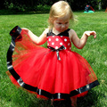 New fashion Girls Princess Retail Hot Sale Christmas girls dresses for party and wedding Dot print