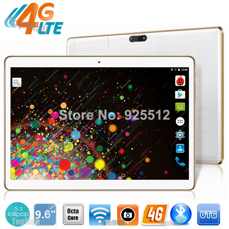 DHL 9.6 inch Octa Core 3G 4G Lte Phone Call Tablet PC Android 5.1 4GB RAM 32G ROM 1280*800 IPS Screen GPS Gifts MID tablets 10.1(China (Mainland))