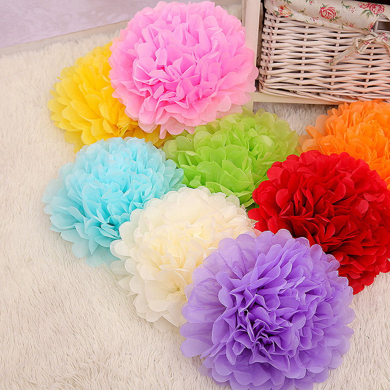 WEDDING 6 Inch 15cm Tissue Paper Pom Poms Wedding Party Decor Flower For