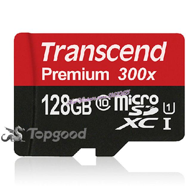 Transcend Sealed Real 128GB MicroSD MicroSDXC Micro SD SDHC SDXC Card 45MB/S class 10 UHS-1 TF Memory Card(China (Mainland))
