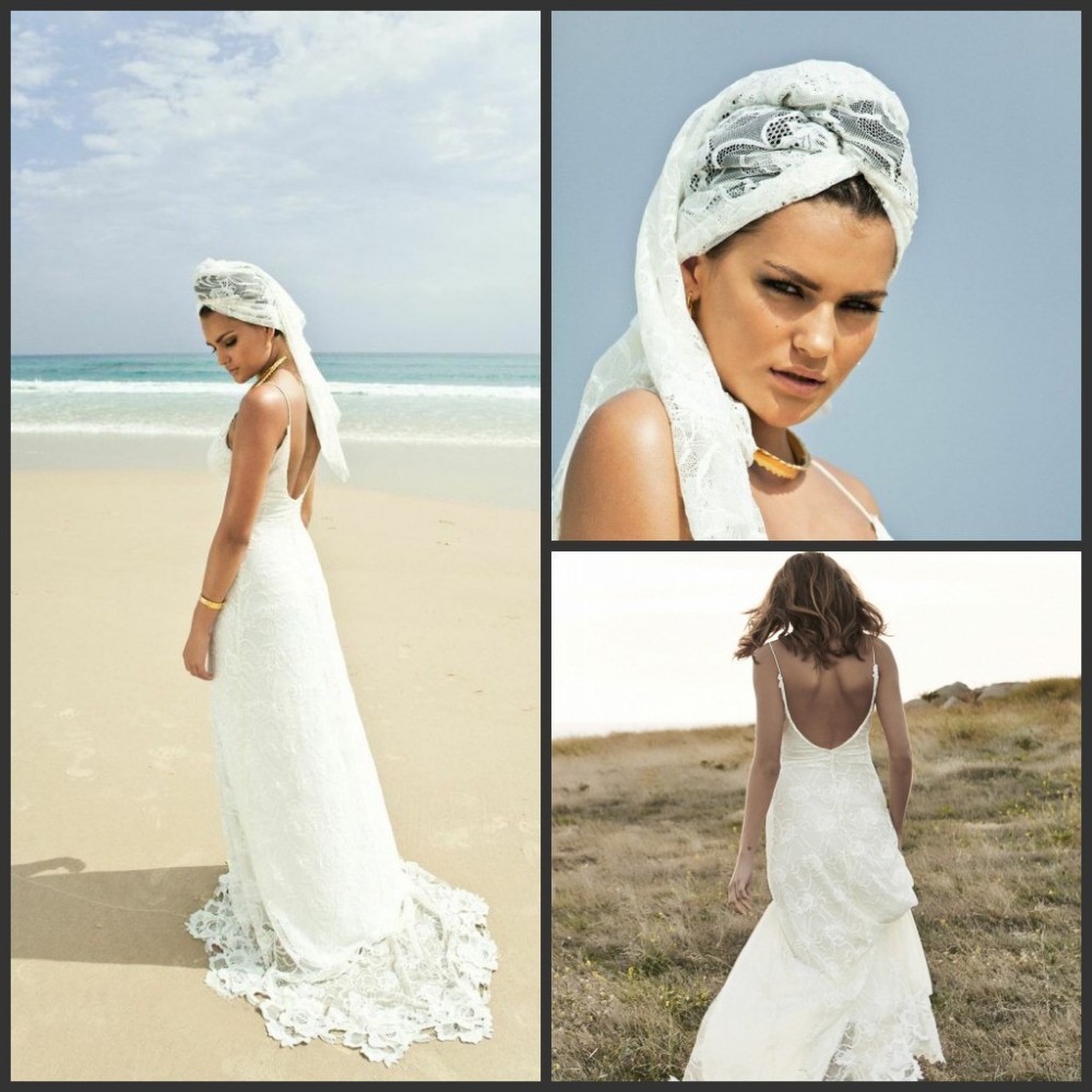 Beach Wedding Dresses With Split : Grace love lace sweetehart split front backless sweep