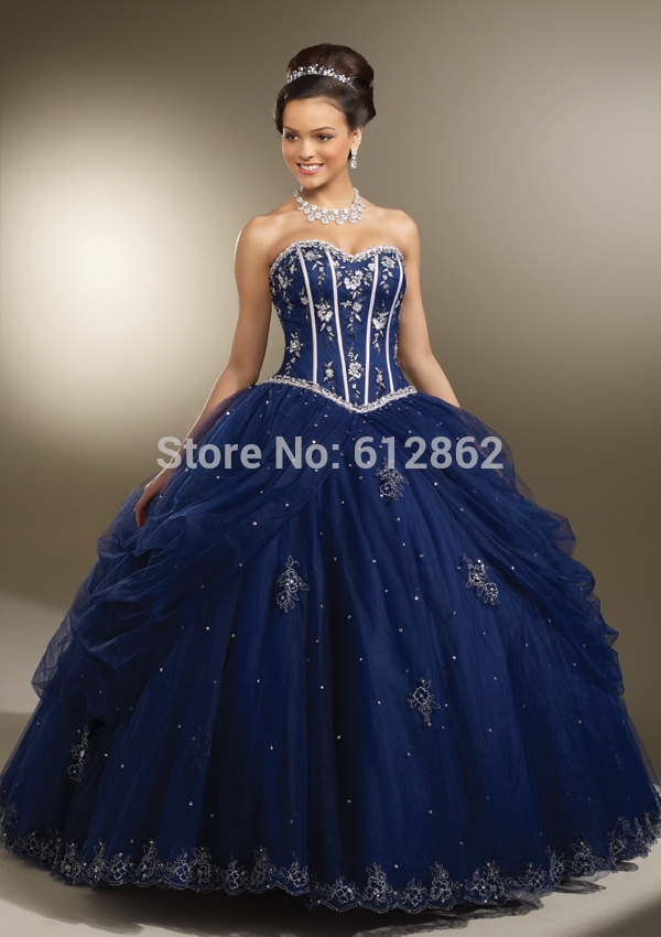 Online Buy Wholesale dark blue prom dress strapless from China ...