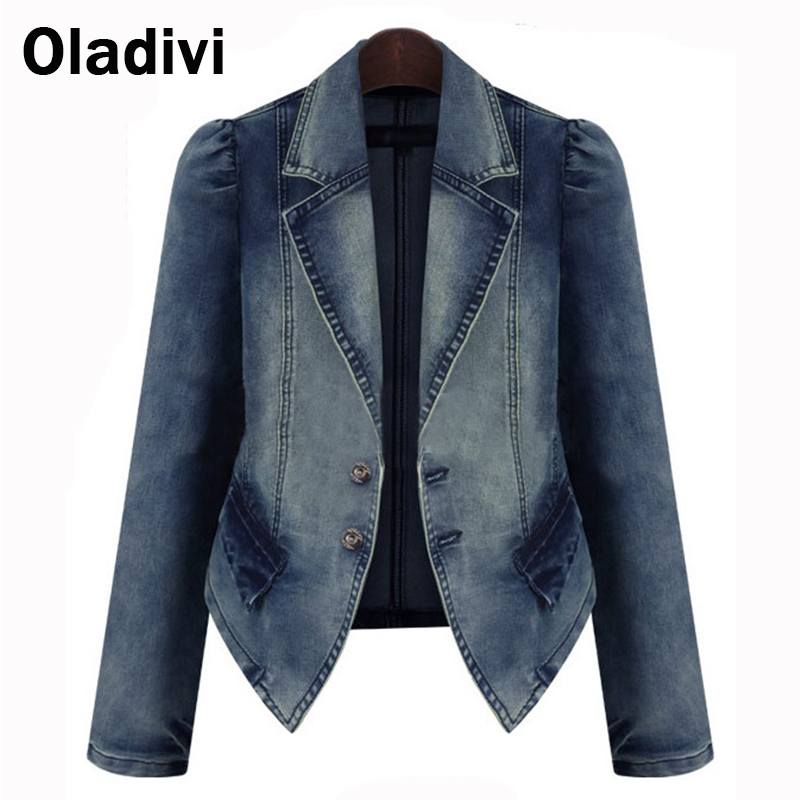 Fitted Denim Jacket Ladies dCEOhE